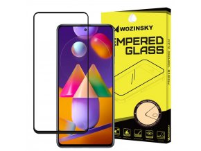 eng pl Wozinsky Tempered Glass Full Glue Super Tough Screen Protector Full Coveraged with Frame Case Friendly for Samsung Galaxy M51 black 63805 1