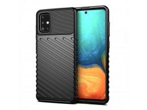 eng pl Thunder Case Flexible Tough Rugged Cover TPU Case for Samsung Galaxy A21S black 62742 1