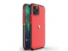 eng pl Spring Case clear TPU gel protective cover with colorful frame for iPhone 12 Pro iPhone 12 black 63319 1