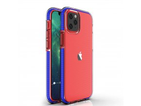 eng pl Spring Case clear TPU gel protective cover with colorful frame for iPhone 12 Pro iPhone 12 dark blue 63324 1