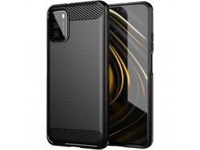 pol pl Carbon Case elastyczne etui pokrowiec Xiaomi Poco M3 Xiaomi Redmi 9T czarny 67636 1