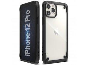 pol pl Ringke Fusion X etui pancerny pokrowiec z ramka iPhone 12 Pro iPhone 12 czarny FUAP0024 63906 1