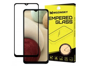 eng pl Wozinsky Tempered Glass Full Glue Super Tough Screen Protector Full Coveraged with Frame Case Friendly for Samsung Galaxy A12 black 66898 1