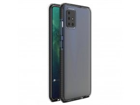 eng pl Spring Case clear TPU gel protective cover with colorful frame for Xiaomi Redmi Note 9 Pro Redmi Note 9S black 61313 1
