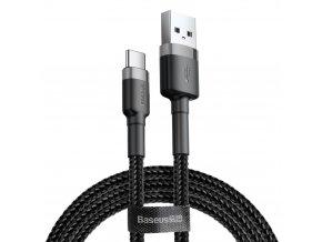 eng pl Baseus Cafule Cable Durable Nylon Braided Wire USB USB C QC3 0 3A 1M black grey CATKLF BG1 46796 1
