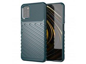 eng pl Thunder Case Flexible Tough Rugged Cover TPU Case for Xiaomi Poco M3 Xiaomi Redmi 9T green 67167 4
