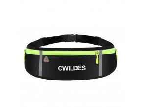 eng pl Ultimate reflective stripe Running Belt with headphone outlet 4 pocket Gray 68120 4