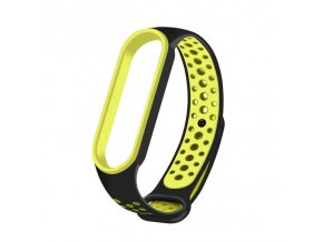 eng pl Replacment band strap for Xiaomi Mi Band 5 Dots black green 68331 1