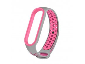 eng pl Replacment band strap for Xiaomi Mi Band 5 Dots gray pink 68338 1