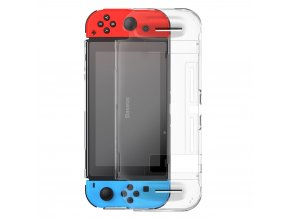 eng pl Baseus Shock resistant Bracket Protective Case for Nintendo Switch with Pads Cutouts transparent WISWGS07 02 60878 1