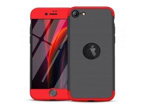 pol pl GKK 360 Protection Case etui na cala obudowe przod tyl iPhone SE 2020 czarno czerwony 61214 1