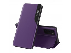 eng pl Eco Leather View Case elegant bookcase type case with kickstand for Samsung Galaxy A52 5G purple 67215 1