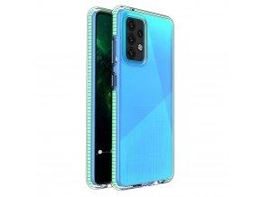 pol pl Spring Case pokrowiec zelowe etui z kolorowa ramka do Samsung Galaxy A52 5G A52 4G mietowy 70703 1