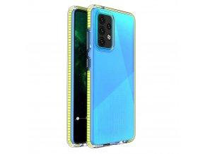 pol pl Spring Case pokrowiec zelowe etui z kolorowa ramka do Samsung Galaxy A52 5G A52 4G zolty 70706 1