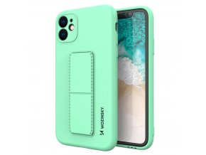 eng pl Wozinsky Kickstand Case flexible silicone cover with a stand iPhone 11 mint 69449 1