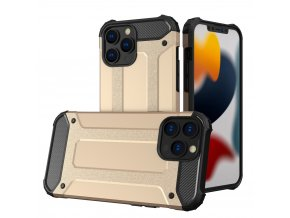 eng pl Hybrid Armor Case Tough Rugged Cover for iPhone 13 Pro Max golden 74422 1