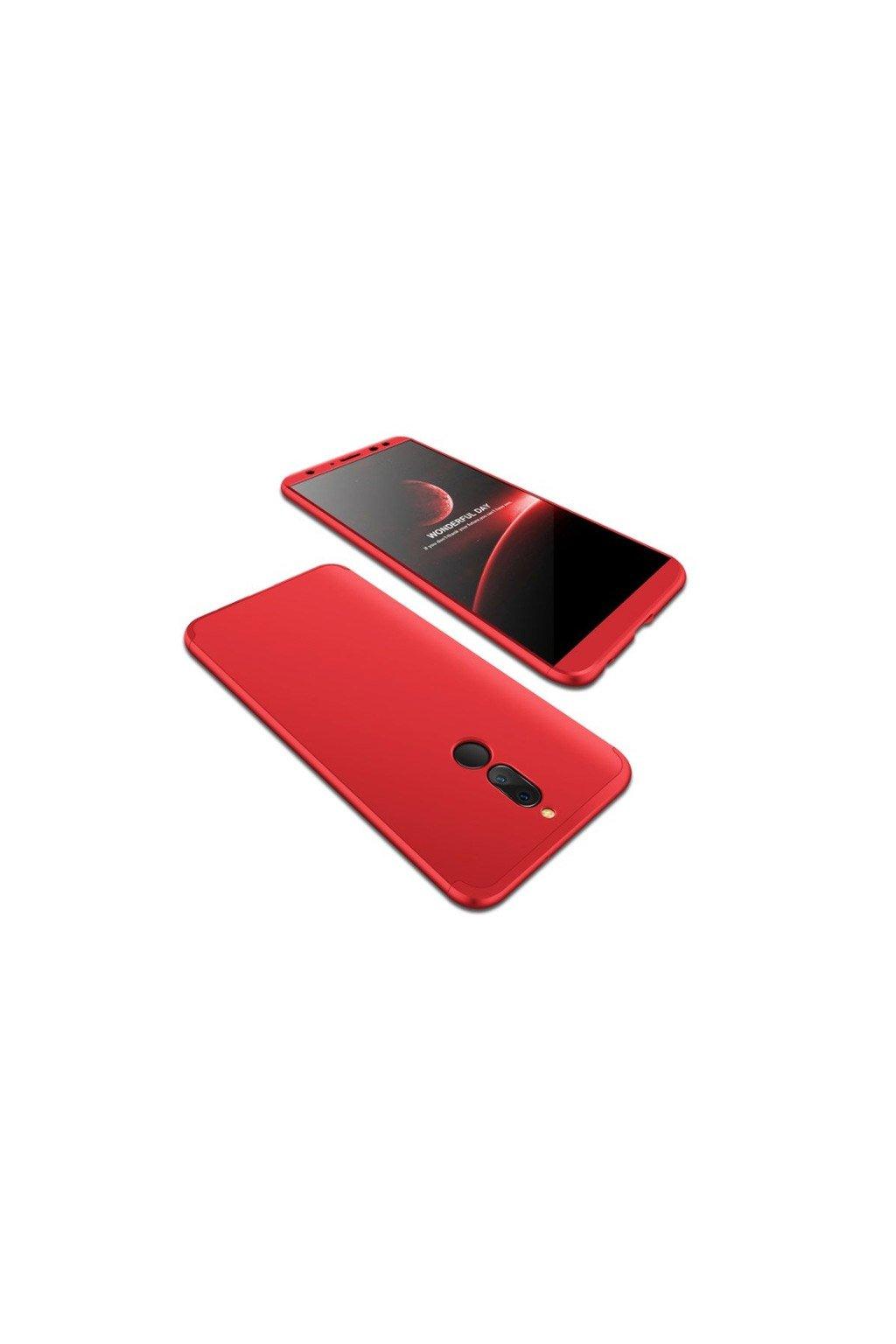 Oboustranný kryt na Huawei Mate 10 Lite červený