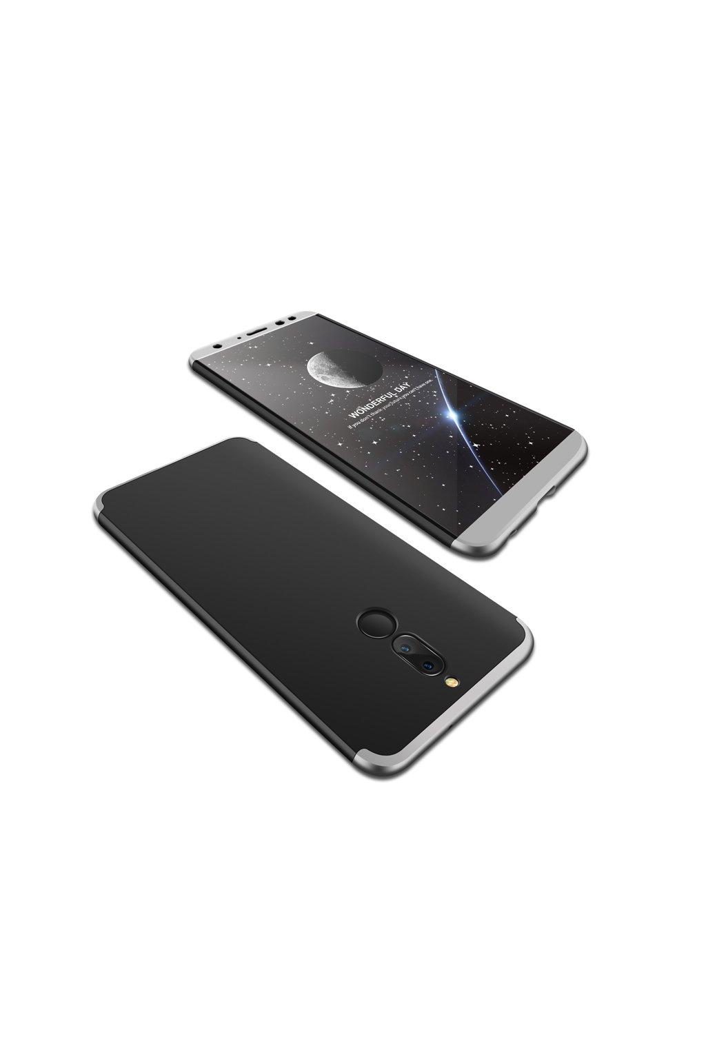 360 oboustranný kryt na Huawei Mate 10 Lite stříbrnočerný 1