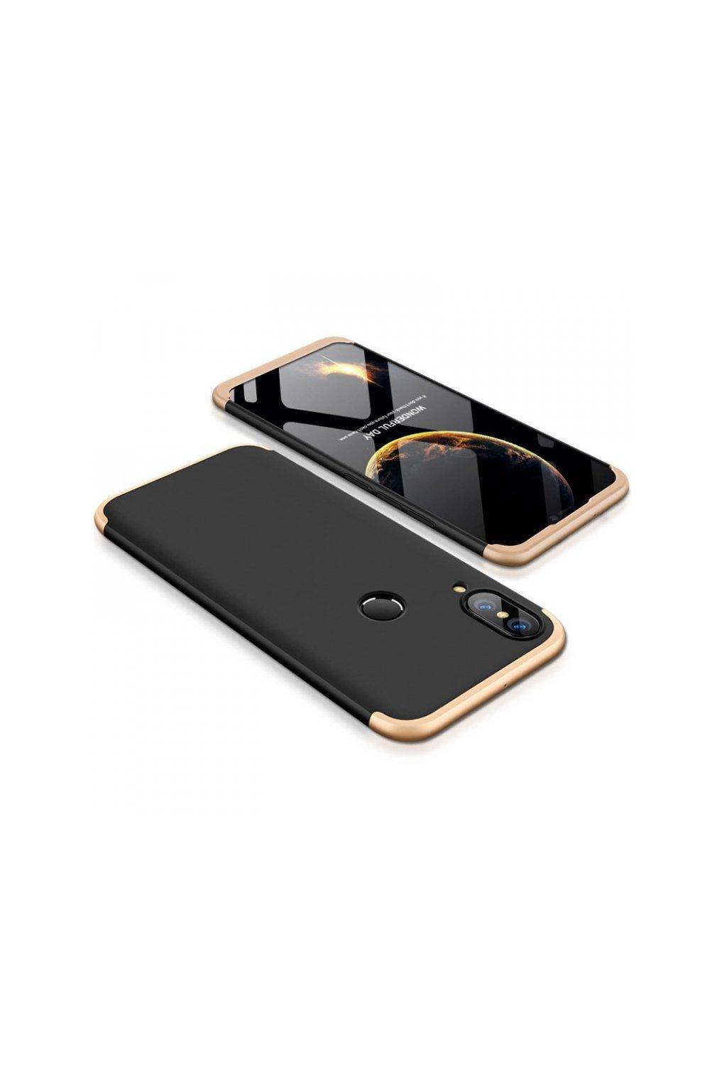 360 obojstranný kryt na Huawei P Smart 2019 / Honor 10 Lite - Zlato-čierny
