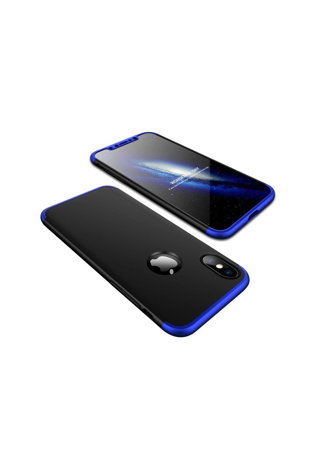 360 oboustranný kryt na Iphone X černo modrý
