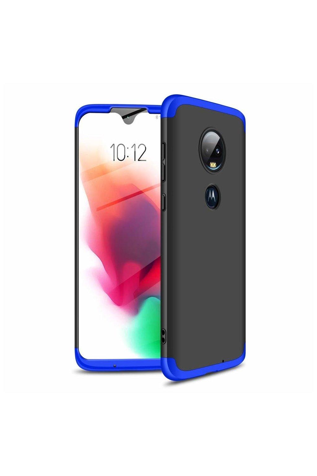 eng pl GKK 360 Protection Case Front and Back Case Full Body Cover Motorola Moto G7 black blue 46547 1