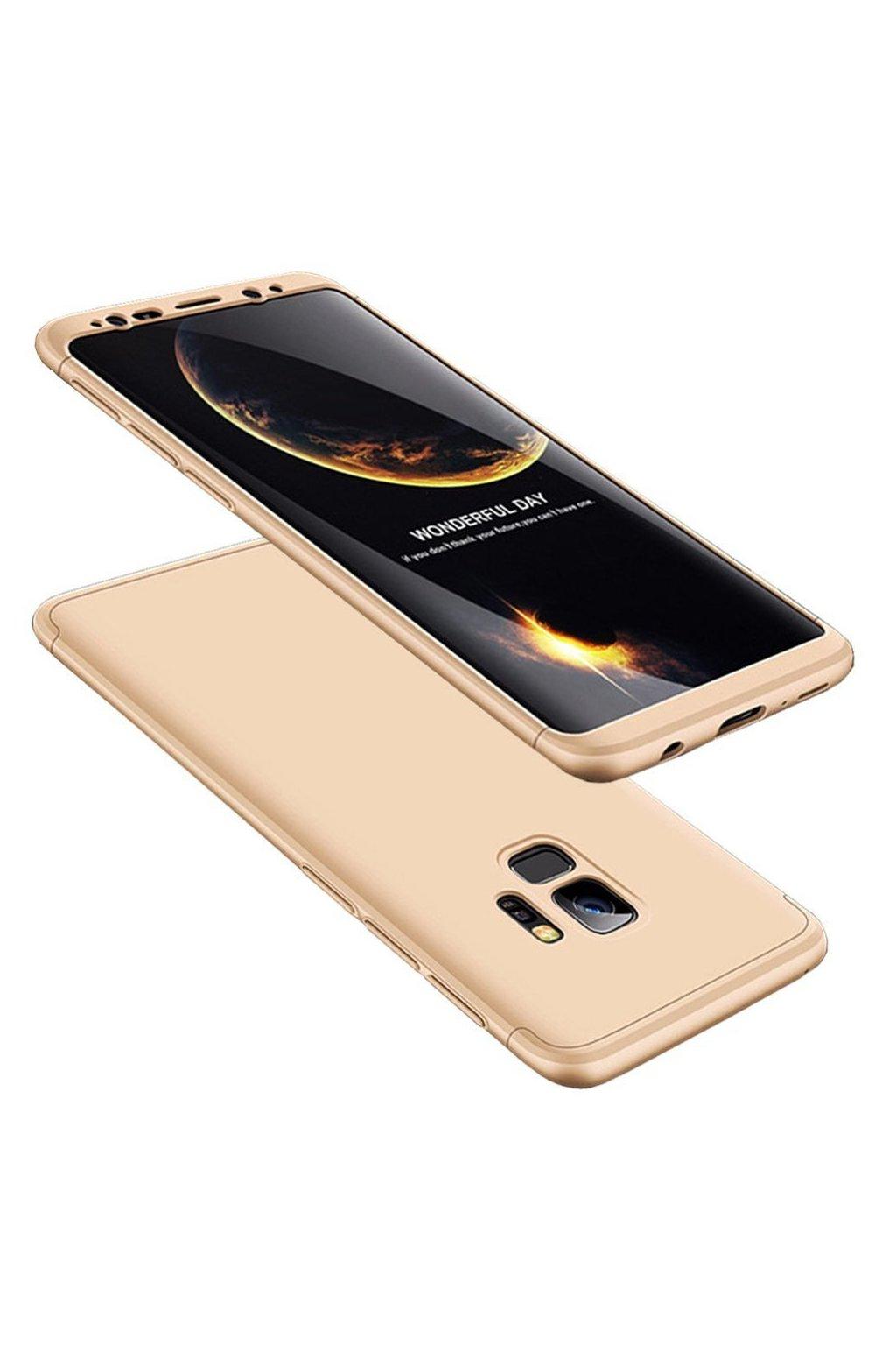 360 oboustranný kryt na Samsung Galaxy S9 zlatý 1