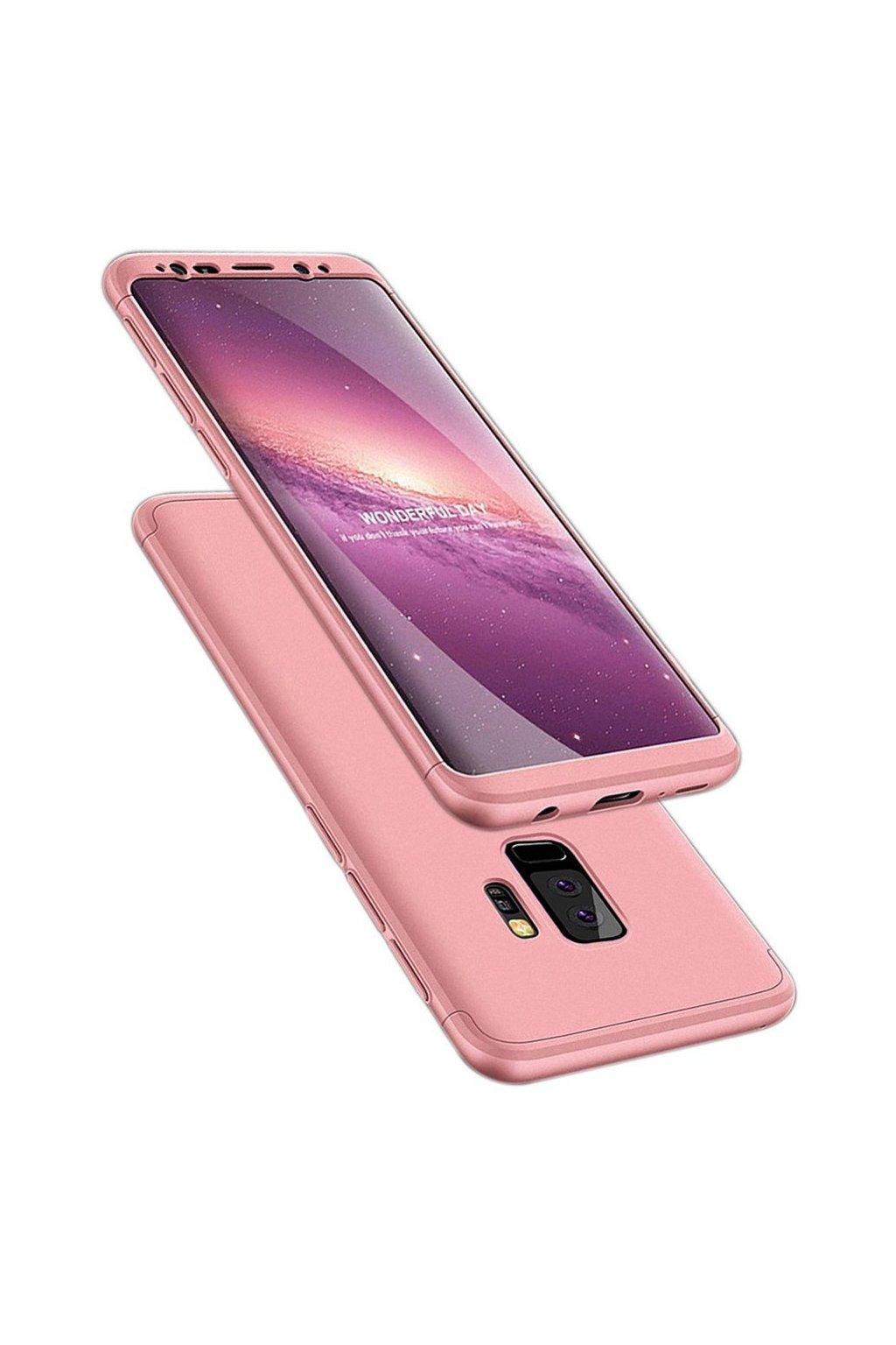 360 oboustranný kryt na Samsung Galaxy S9 Plus růžový 1