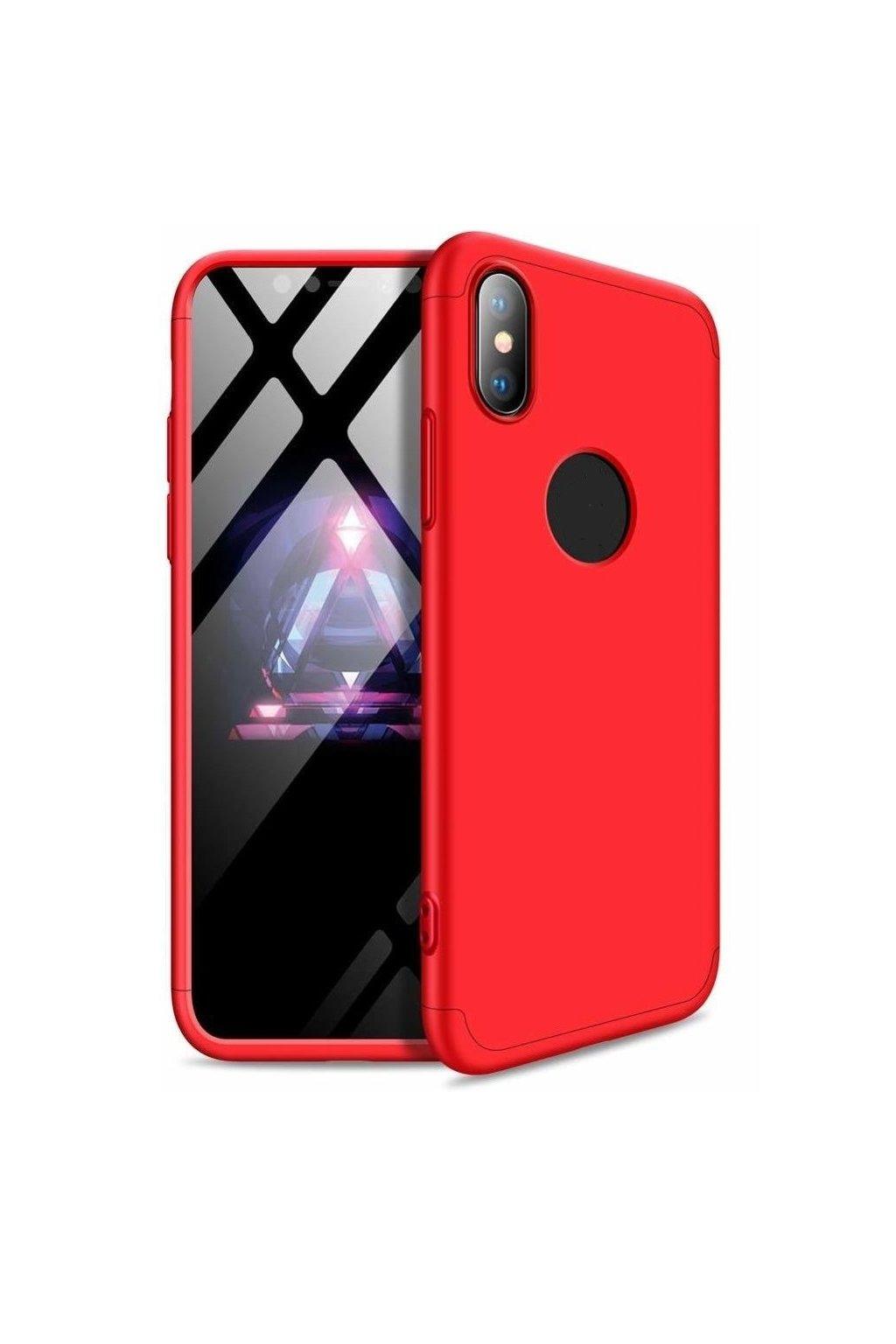 360 obojstranný kryt na Xiaomi Mi 8 Lite - červený