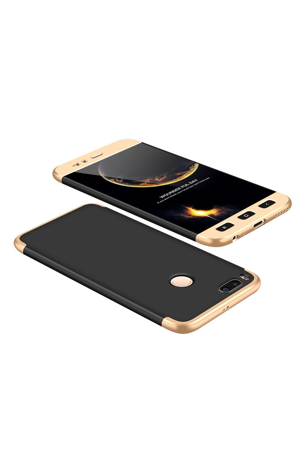 360 oboustranný kryt na Xiaomi Mi A1, Mi 5X zlatý