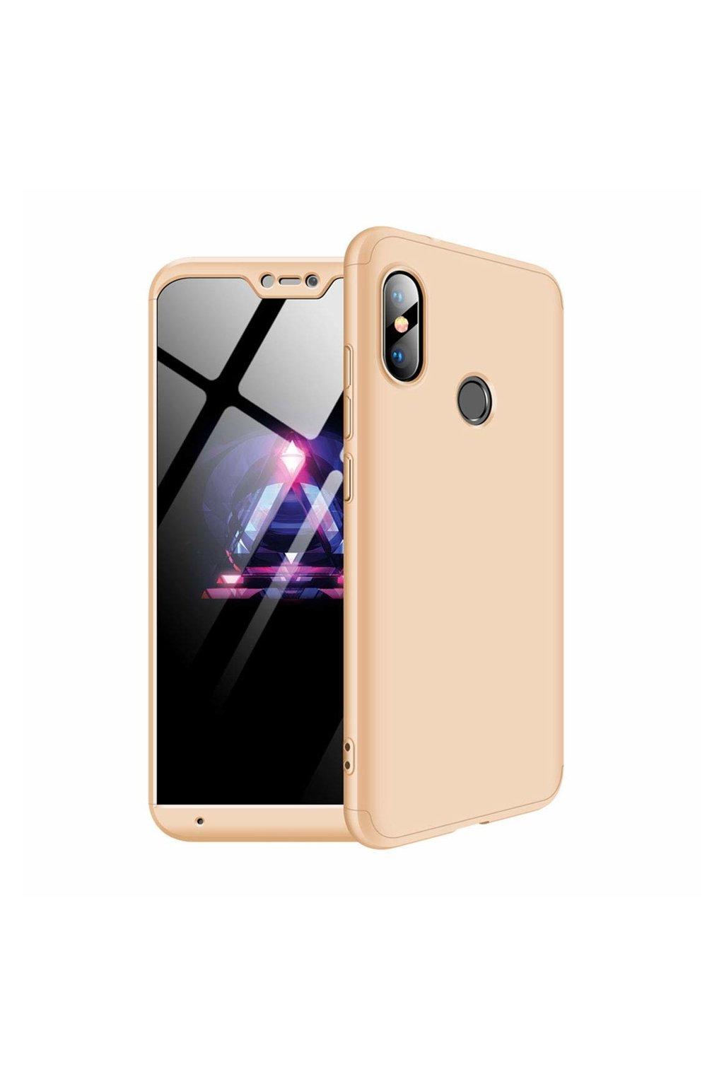eng pl 360 Protection Front and Back Case Full Body Cover Xiaomi Mi A2 Lite Redmi 6 Pro golden 45194 1