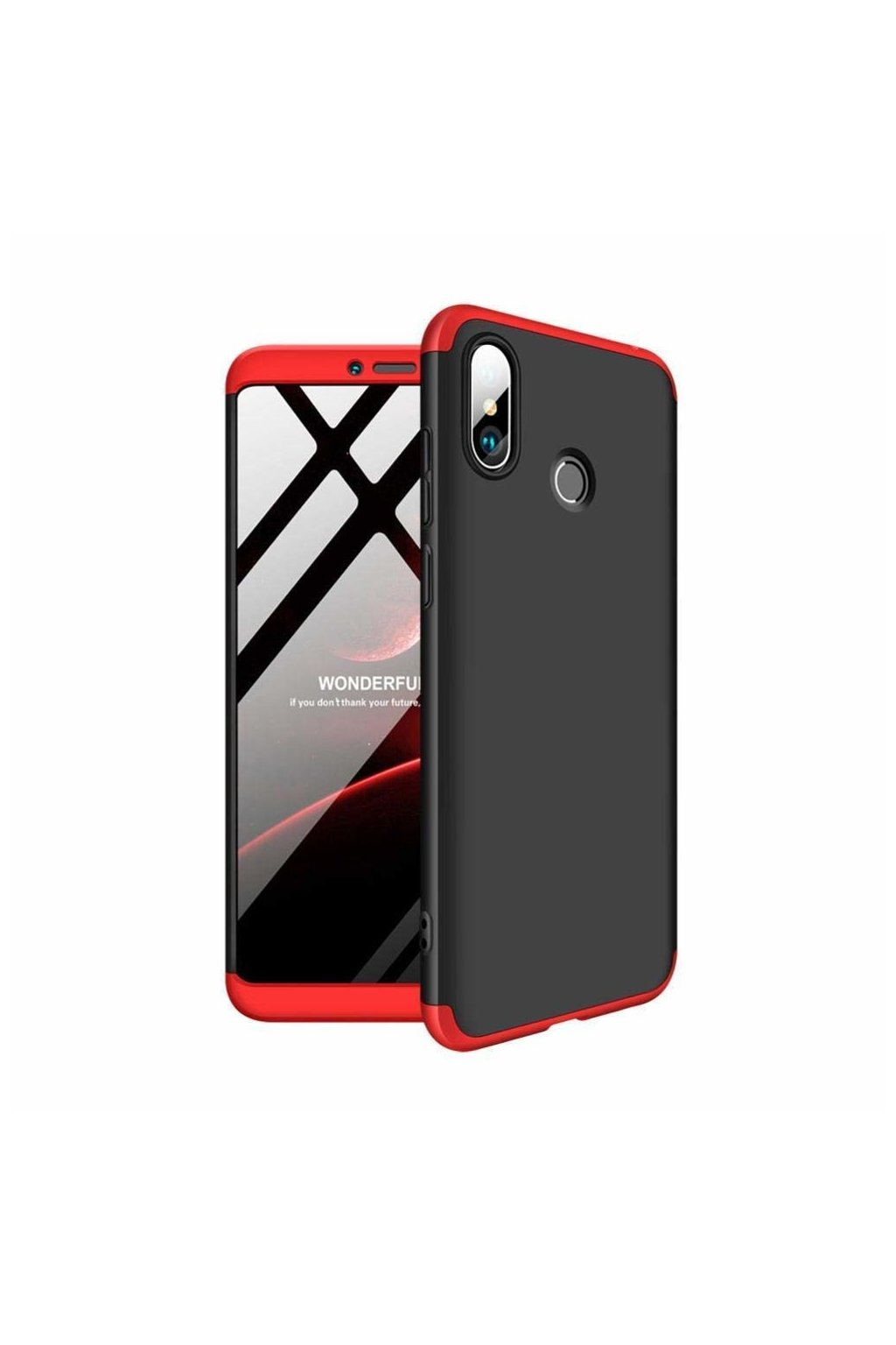 eng pl 360 Protection Front and Back Case Full Body Cover Xiaomi Mi Max 3 black red 45200 1
