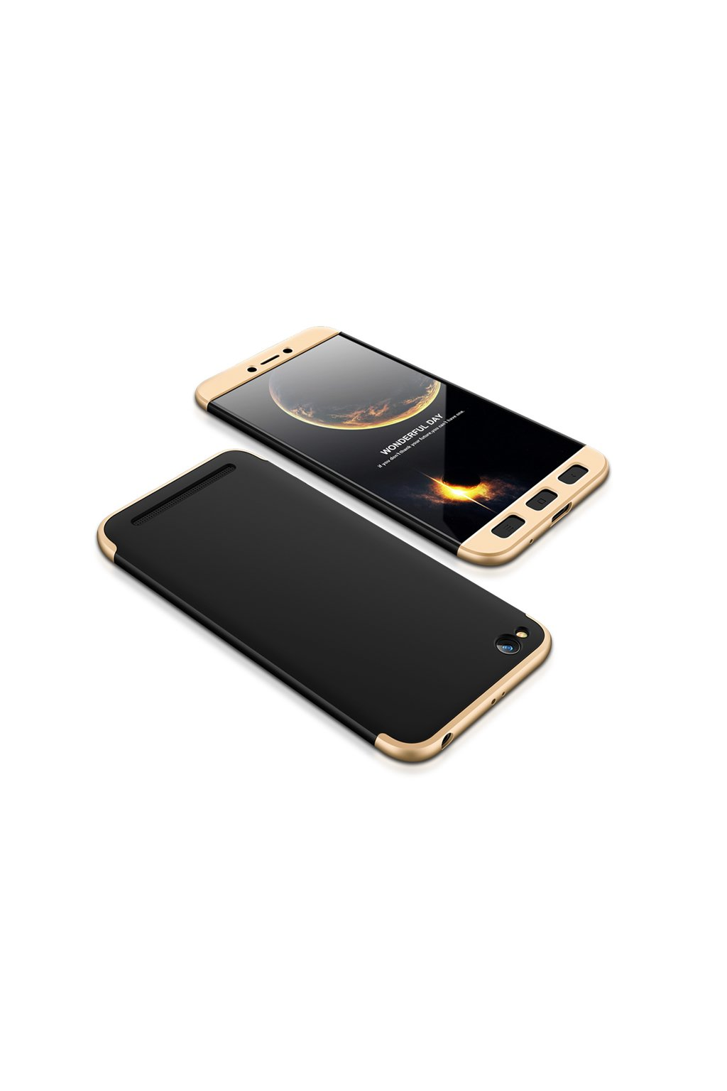 360 oboustranný kryt na Xiaomi Redmi 5A zlatočerný 1