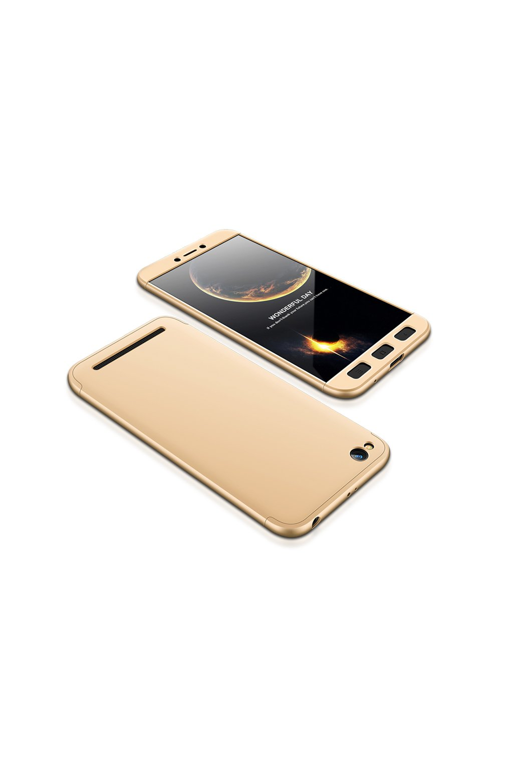 360 oboustranný kryt na Xiaomi Redmi 5A zlatý 1