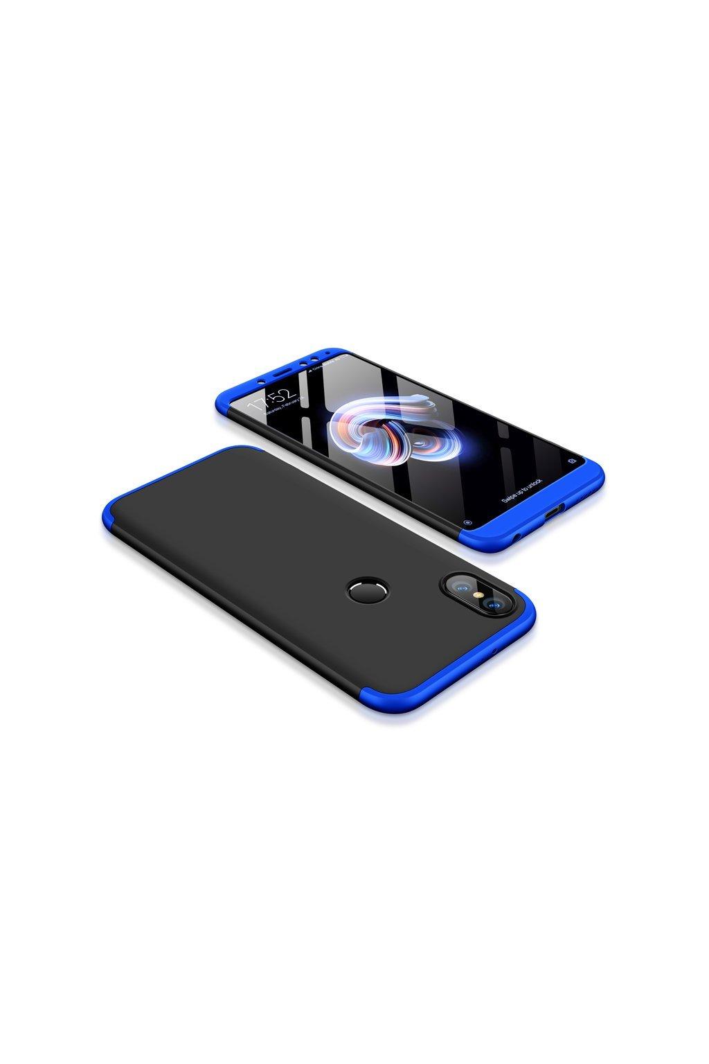 360 oboustranný kryt na Xiaomi redi Note 5 modro černý 1