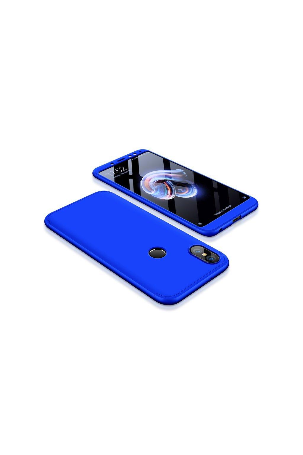 360 oboustranný kryt na Xiaomi redi Note 5 modrý 1