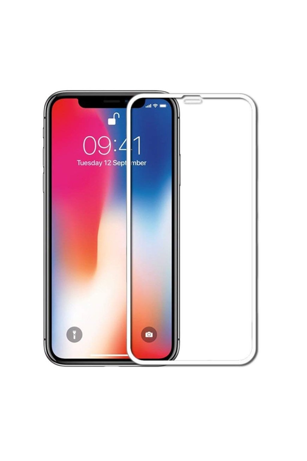 17570 3d full glue tvrzene sklo na iphone xr bile
