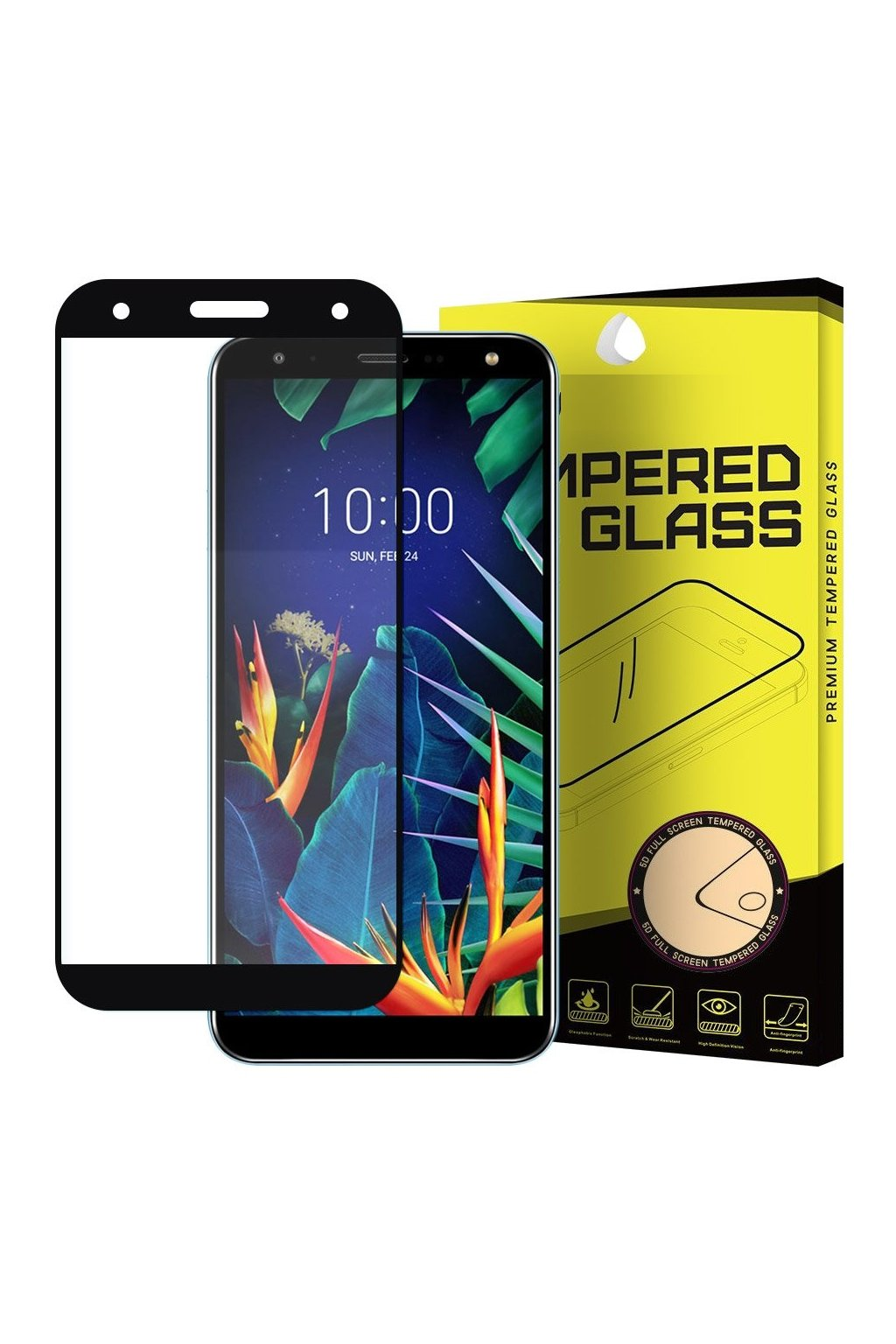 eng pl Wozinsky Tempered Glass Full Glue Super Tough Screen Protector Full Coveraged with Frame Case Friendly for LG K40 X420 black 50670 1