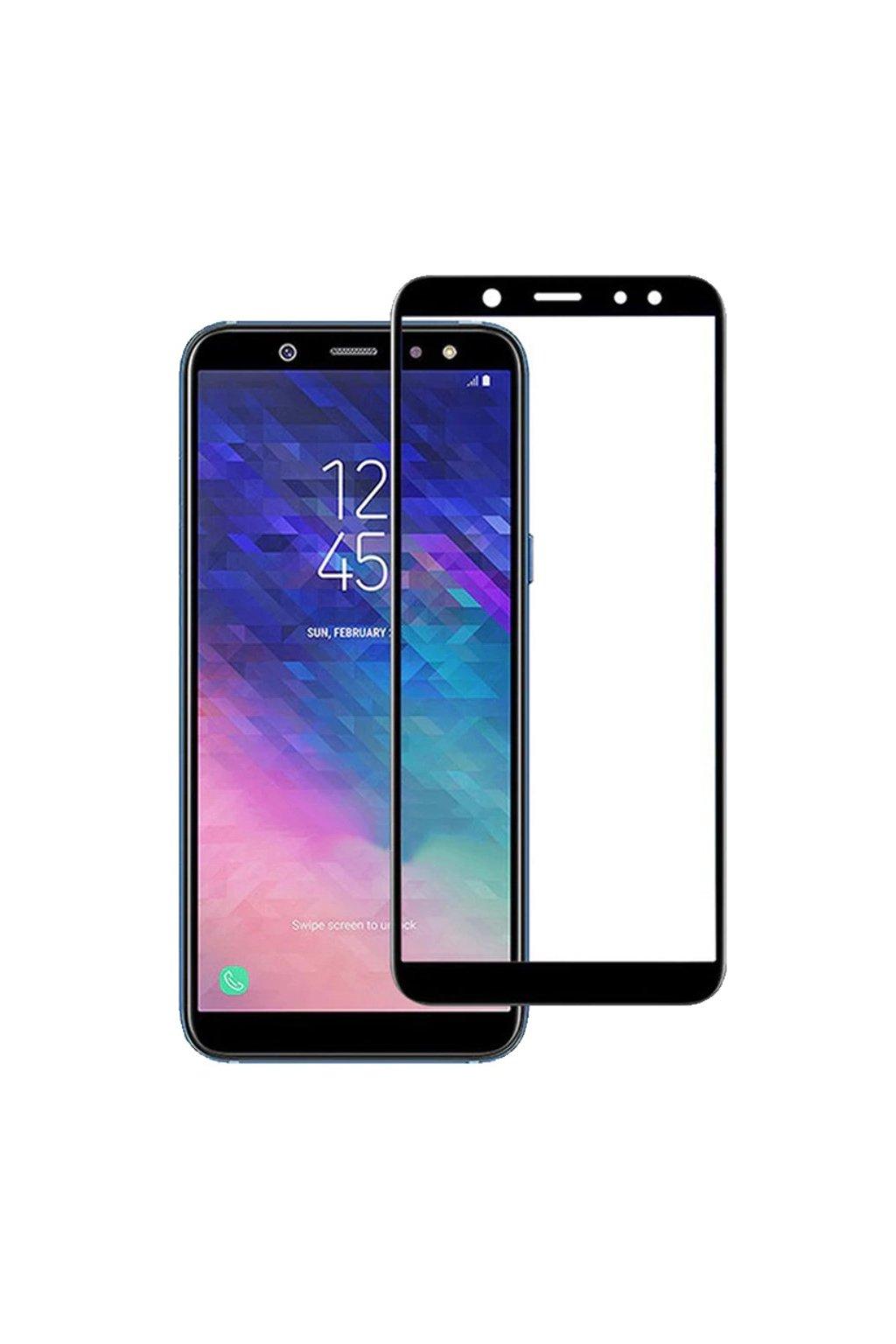 3D Tvrzené sklo na Samsung Galaxy A6 černé