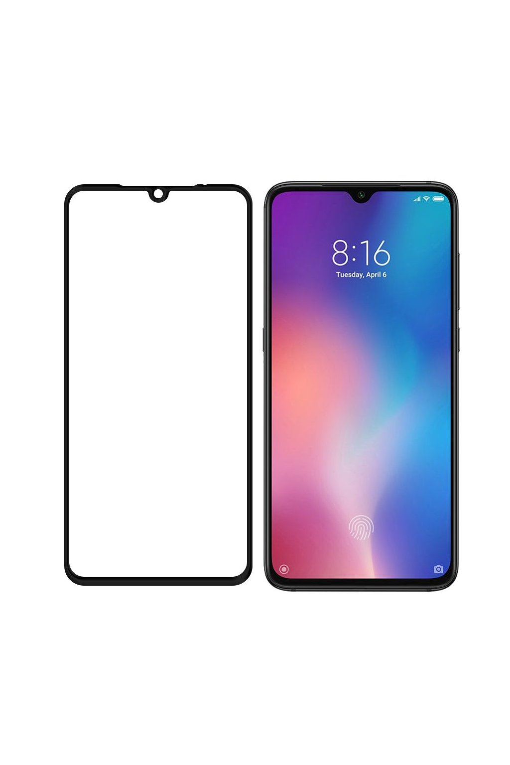 eng pl Wozinsky Tempered Glass Full Glue Super Tough Screen Protector Full Coveraged with Frame Case Friendly for Xiaomi Mi A3 Xiaomi Mi CC9e black 51832 2