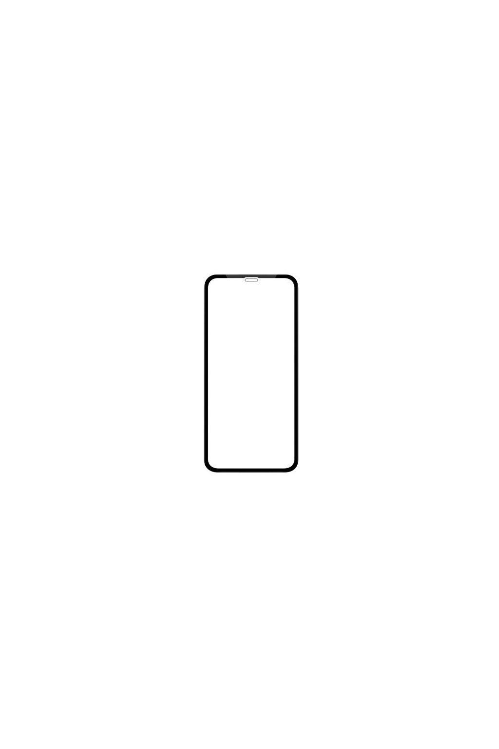 16879 3d full glue tvrzene sklo na xs max cerne