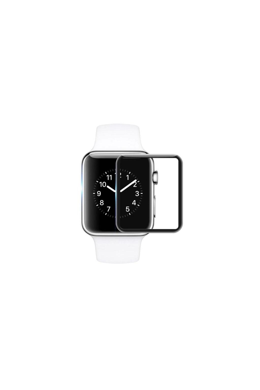 21917 3d tvrzene sklo na apple watch 42x36 mm cerne