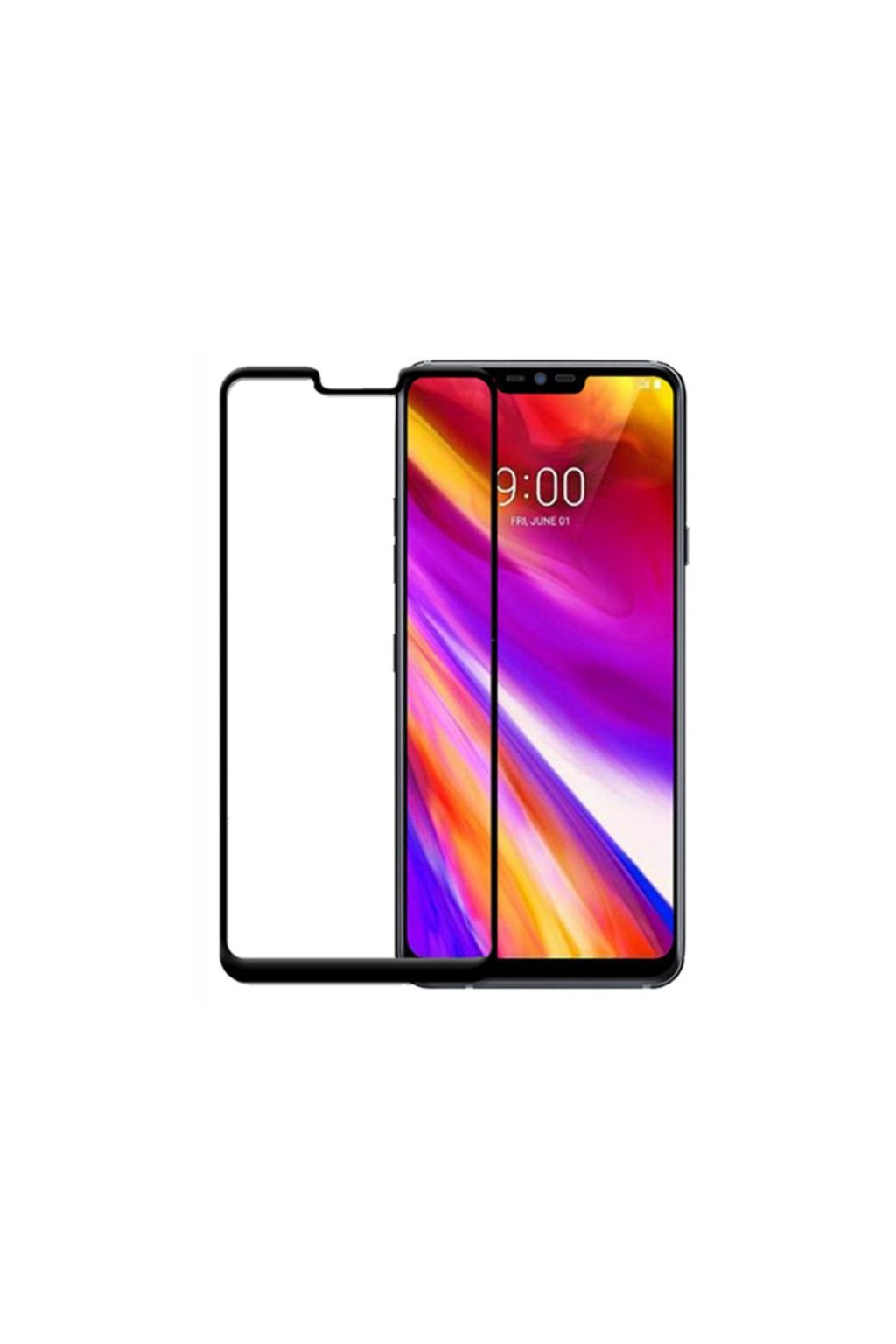 3D Tvrzené sklo na LG G7 černé