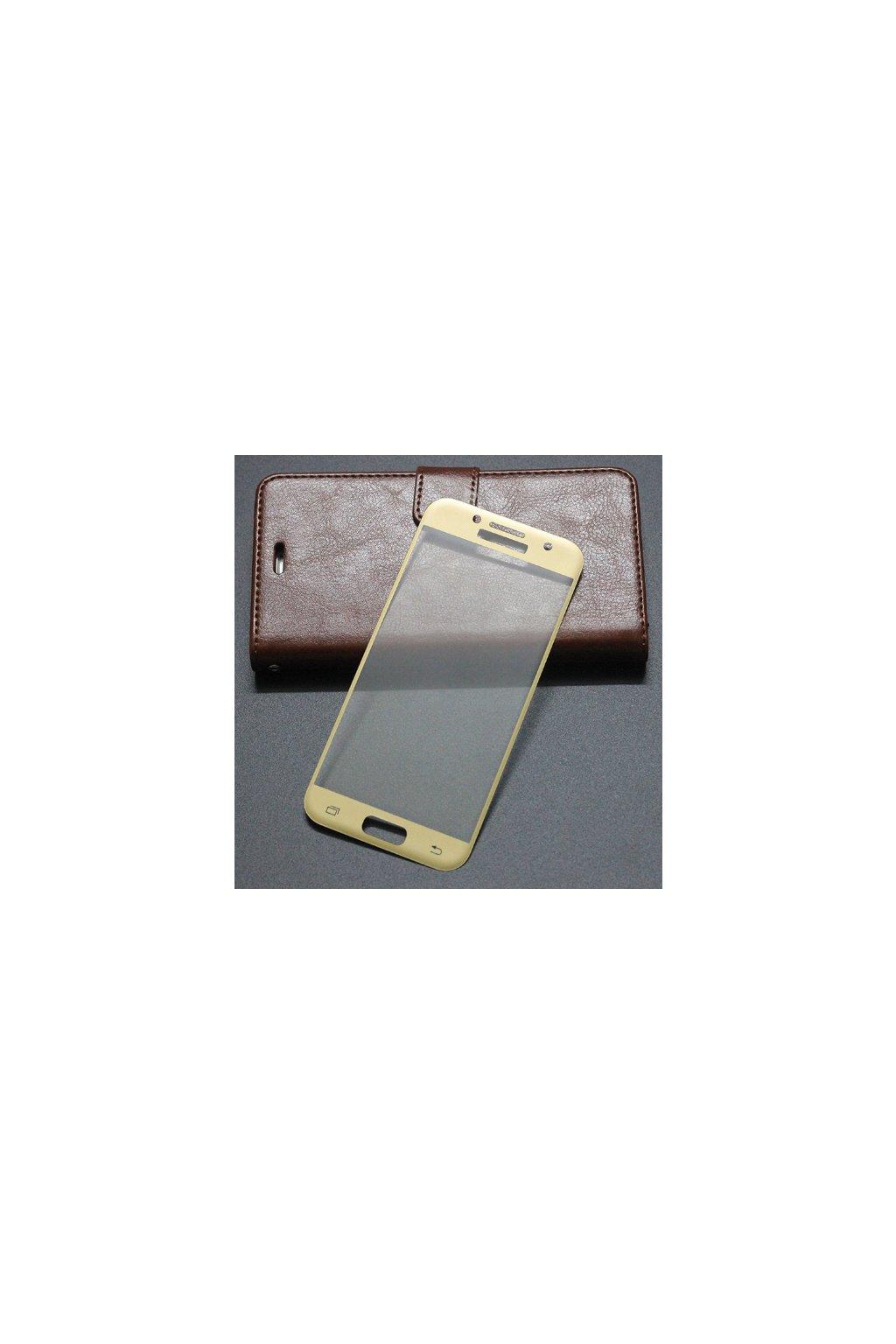 Tvrzené sklo s rámečkem na Samsung A3 2017 Zlaté