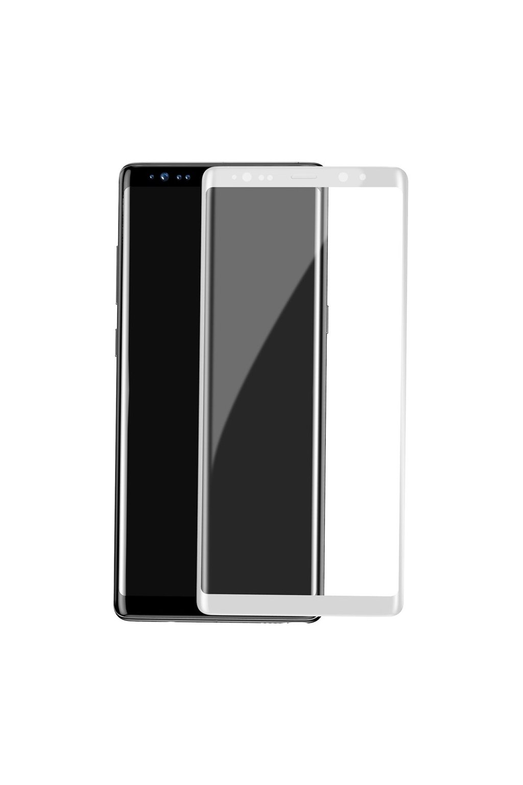 eng pl Baseus 3D Arc Tempered Glass Film Full Screen Protector with Silk Screen Rim Samsung Galaxy Note 8 G950 white SGSANOTE8 3D02 25590 1