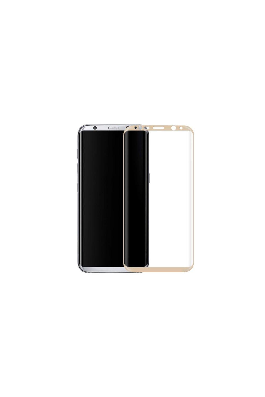 3D tvrzené sklo na Samsung S8 zlaté