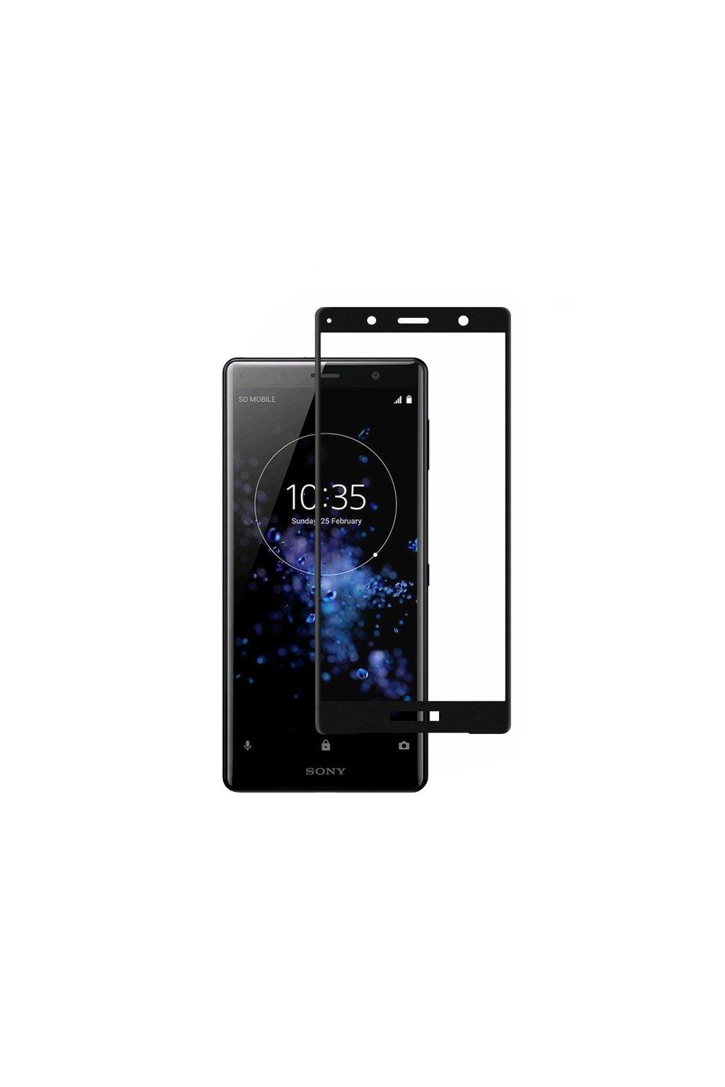 3D Tvrzené sklo na Sony Xperia XZ2 compact černé