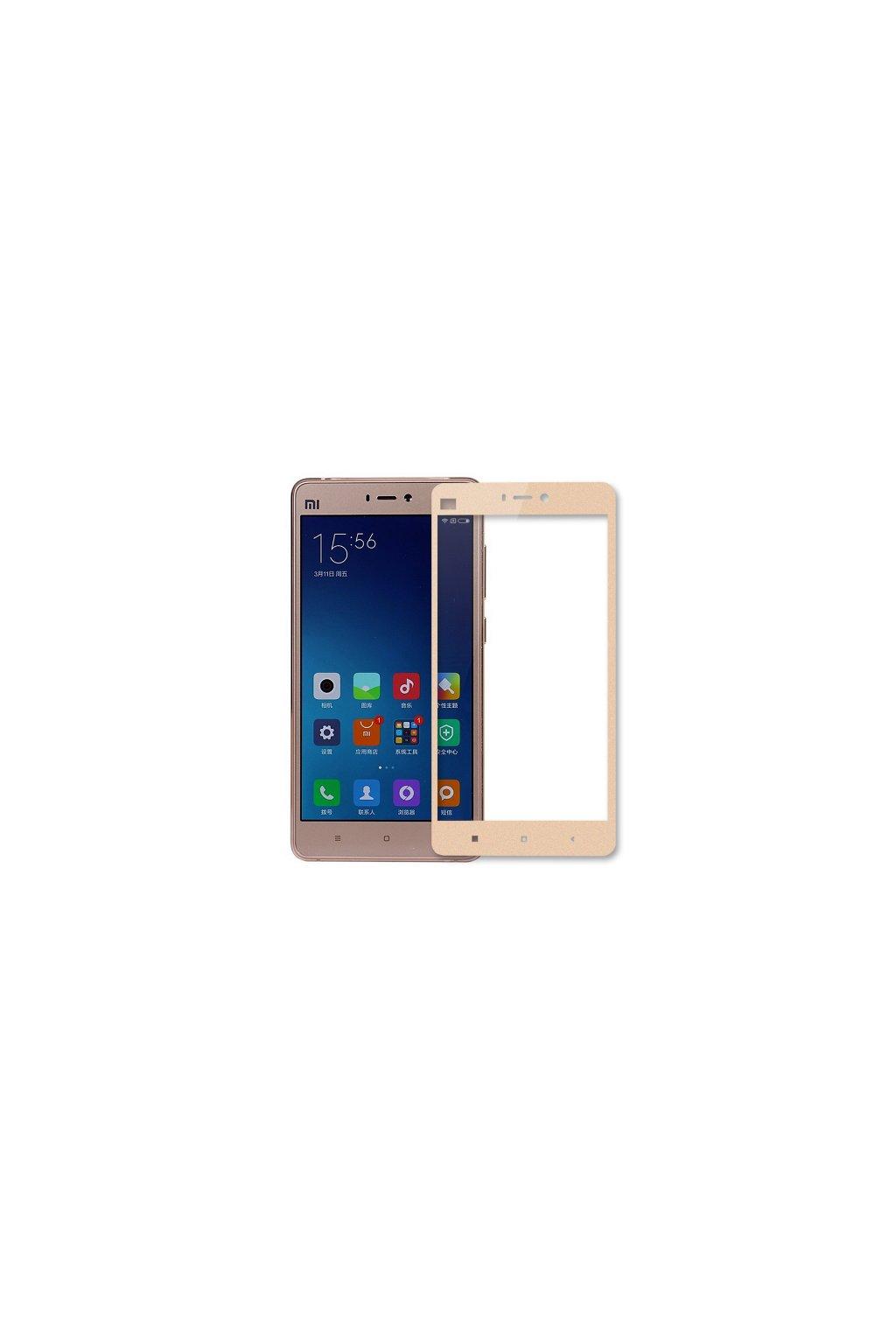 3D tvrzené sklo na Xiaomi redmi 4 s rámečkem zlaté