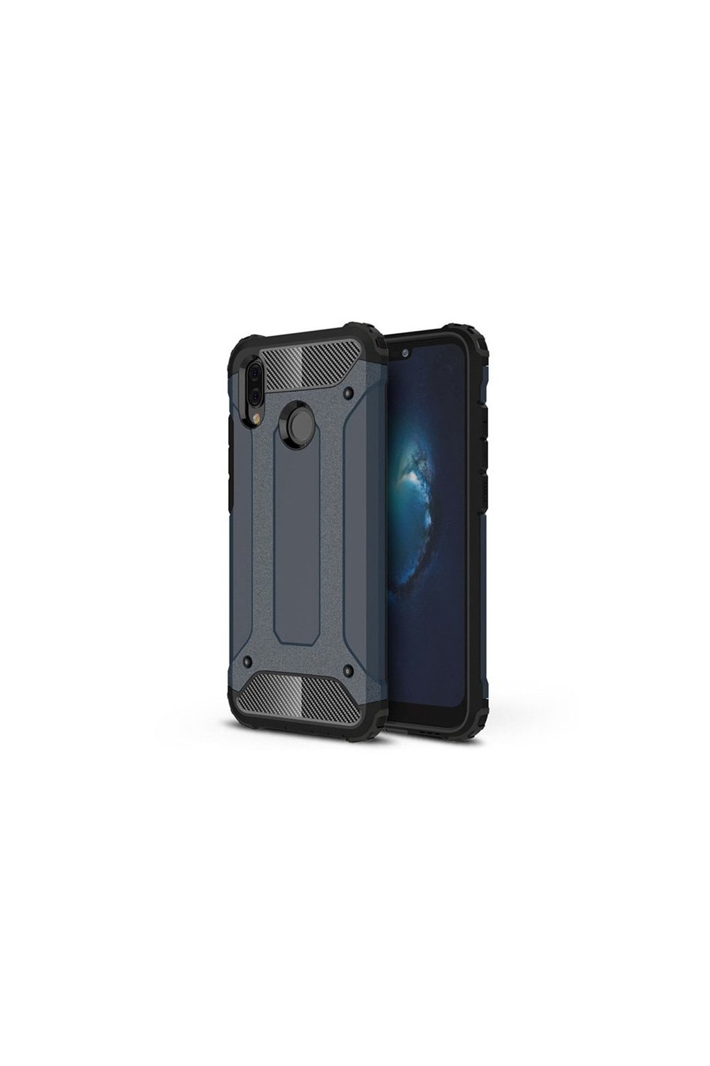 eng pl Hybrid Armor Case Tough Rugged Cover for Huawei P20 Lite blue 39561 1