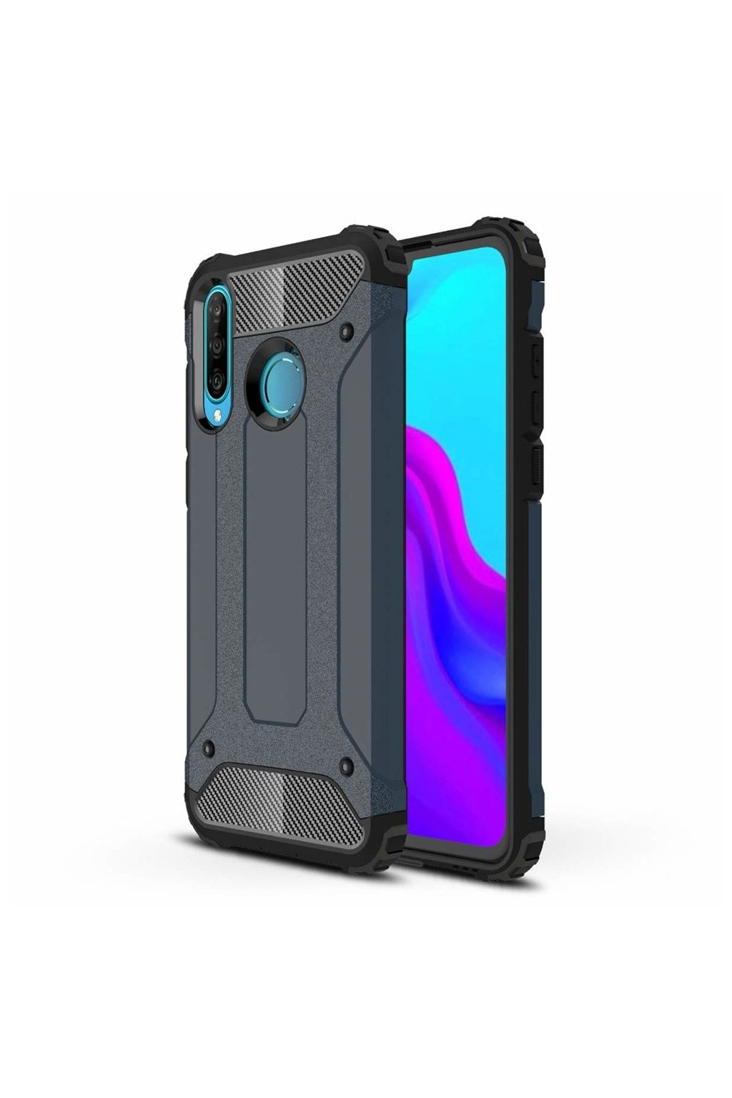 eng pl Hybrid Armor Case Tough Rugged Cover for Huawei P30 Lite blue 49270 1