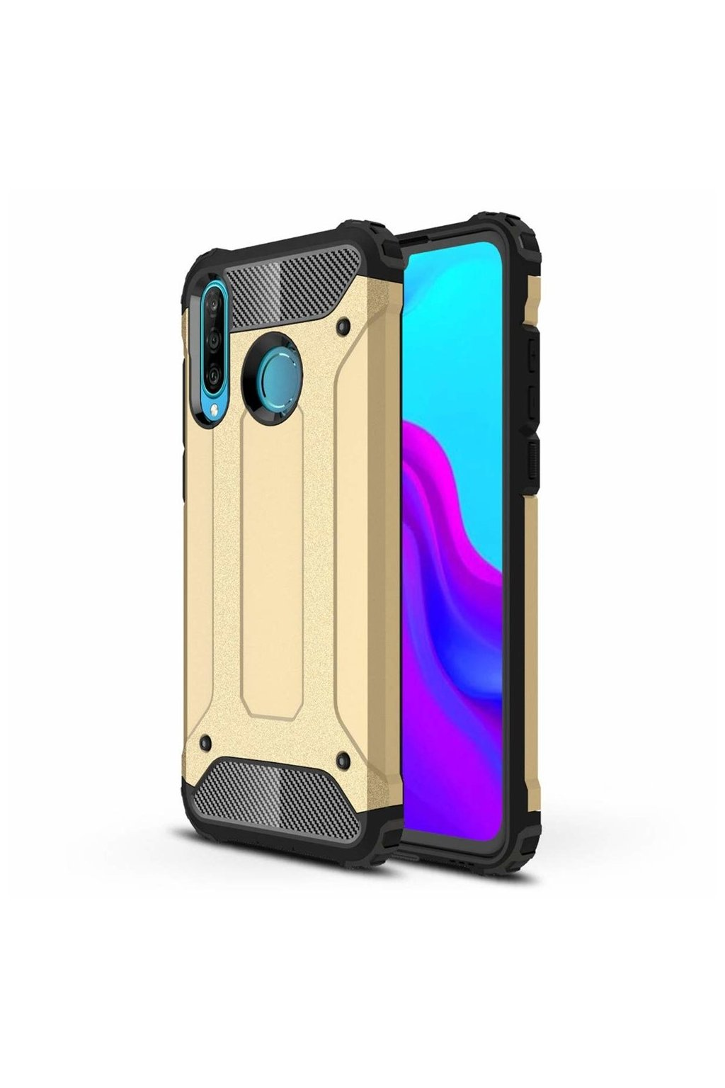 eng pl Hybrid Armor Case Tough Rugged Cover for Huawei P30 Lite golden 49271 1